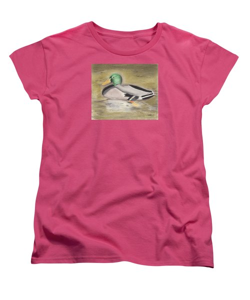 Mallard Women's T-Shirt (Standard Cut) by David Jackson