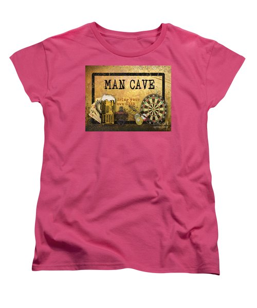 Man Cave-bring Your Own Beer Women's T-Shirt (Standard Cut) by Jean Plout