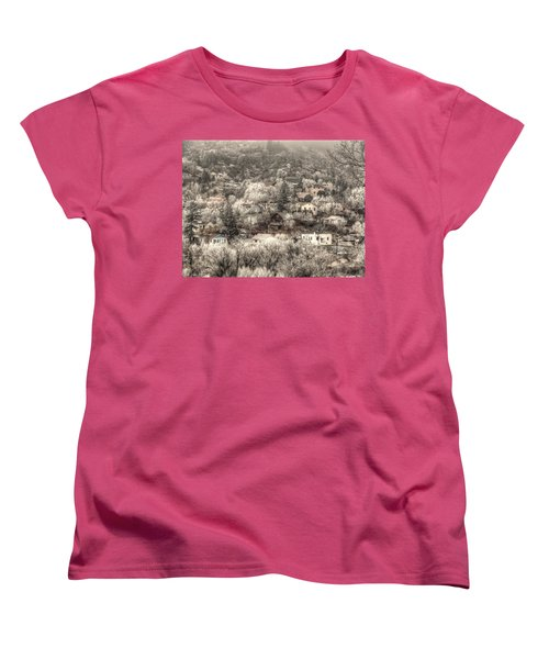 Manitou To The South In Snow Close Up Women's T-Shirt (Standard Cut) by Lanita Williams