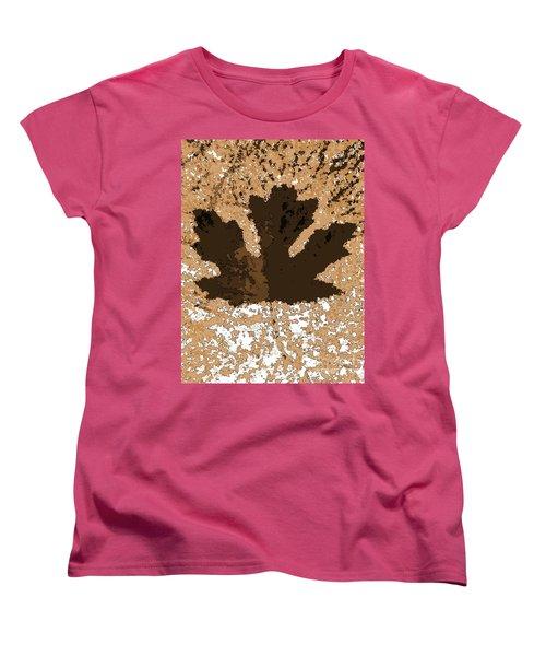 Maple Leaf Brown  Hues Women's T-Shirt (Standard Cut) by R Muirhead Art