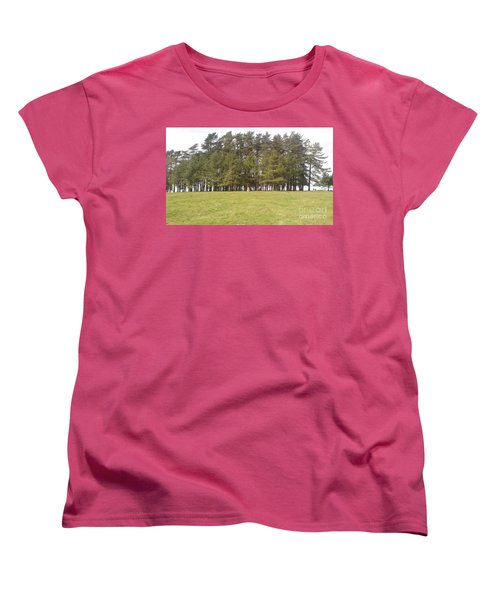 Women's T-Shirt (Standard Cut) featuring the photograph May Hill Tree Tops by John Williams