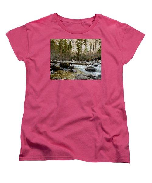 Merced River From Happy Isles 2 Women's T-Shirt (Standard Cut)