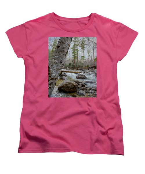 Merced River From Happy Isles Women's T-Shirt (Standard Cut) by Terry Garvin