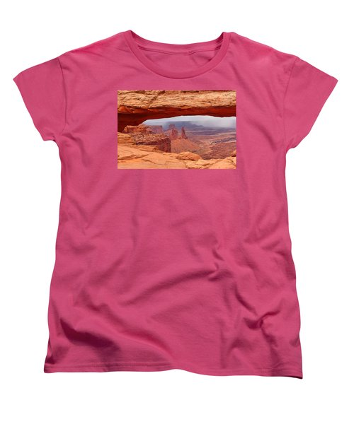 Mesa Arch In Canyonlands National Park Women's T-Shirt (Standard Cut) by Mitchell R Grosky