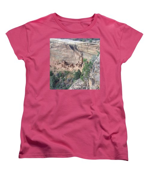 Mesa Verde Colorado Cliff Dwellings 1 Women's T-Shirt (Standard Cut) by Richard W Linford