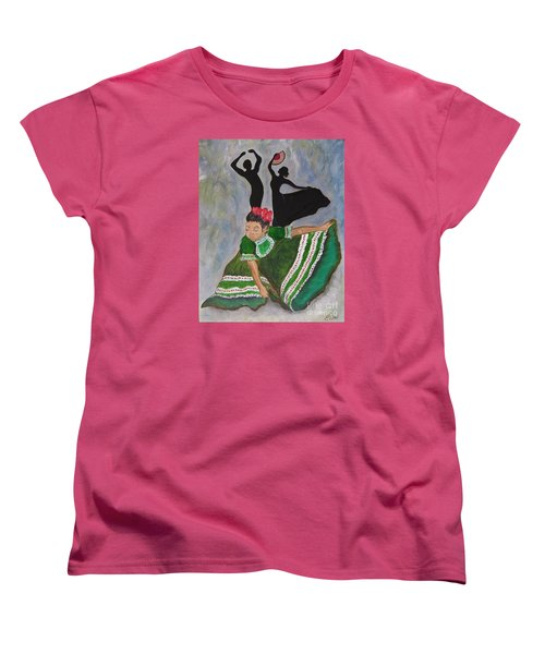 Mexican Hat Dance Women's T-Shirt (Standard Cut) by Ella Kaye Dickey