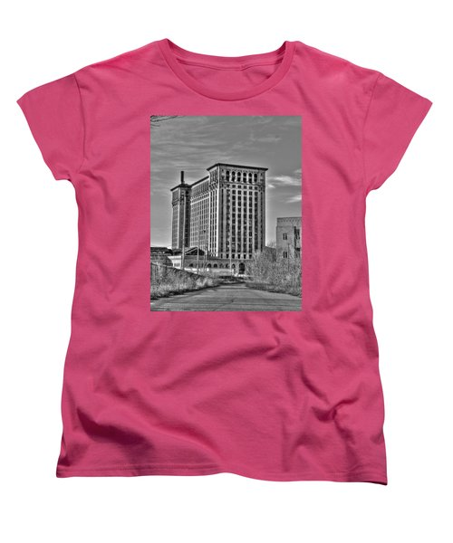 Michigan Central Station Women's T-Shirt (Standard Cut) by Nicholas  Grunas