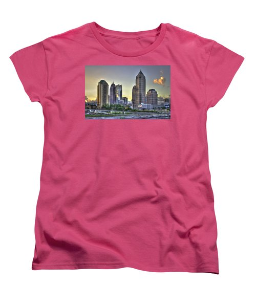 Midtown Atlanta Sunrise Women's T-Shirt (Standard Cut) by Reid Callaway
