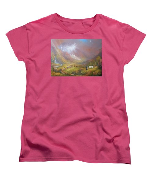 Minas Tirith  War Approaches. Women's T-Shirt (Standard Cut) by Joe  Gilronan