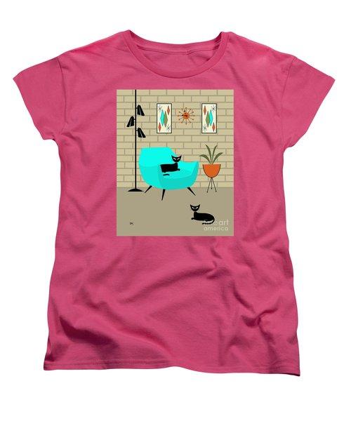 Mini Gravel Art With Brick Wall Women's T-Shirt (Standard Cut)