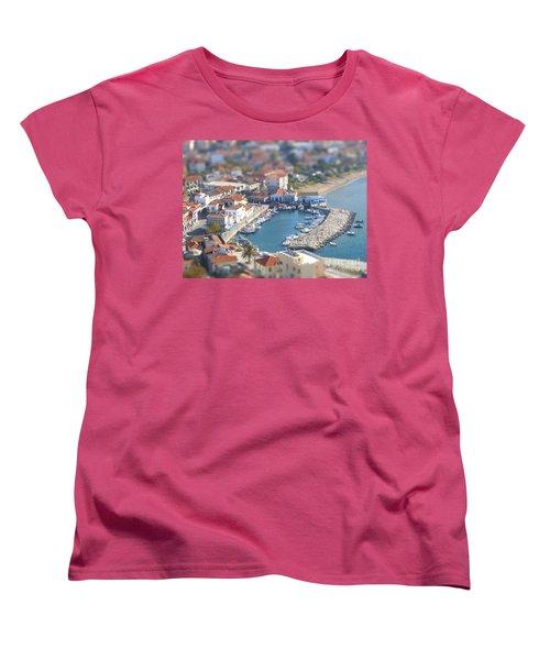 Miniature Port Women's T-Shirt (Standard Cut) by Vicki Spindler
