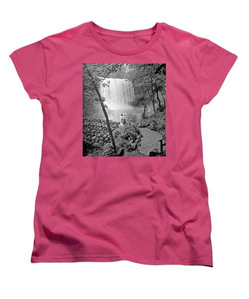 Minnehaha Falls Minneapolis Minnesota 1915 Vintage Photograph Women's T-Shirt (Standard Cut) by A Gurmankin