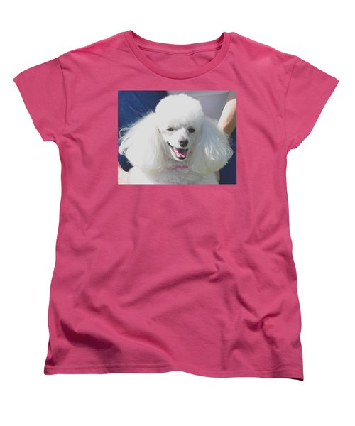 Missy White Poodle Women's T-Shirt (Standard Cut) by Jay Milo
