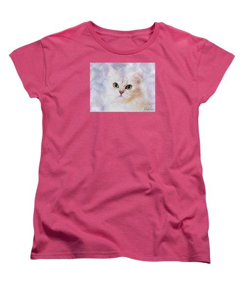 Women's T-Shirt (Standard Cut) featuring the mixed media Mistletoe  by Morag Bates