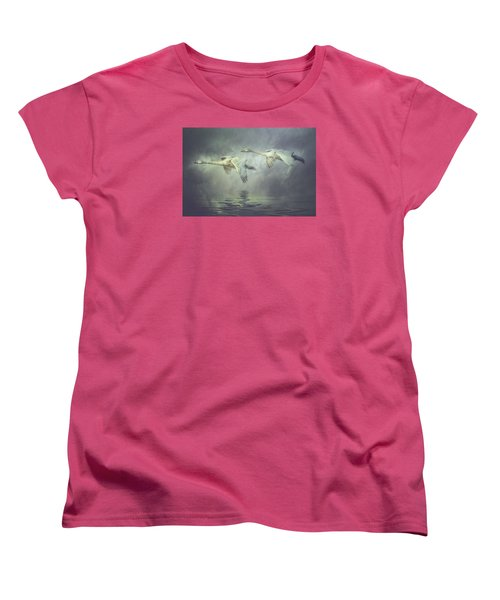 Women's T-Shirt (Standard Cut) featuring the photograph Misty Moon Shadows by Brian Tarr