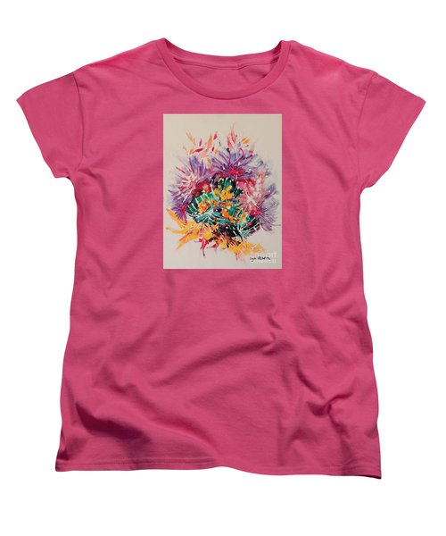 Women's T-Shirt (Standard Cut) featuring the painting Mixed Coral by Lyn Olsen
