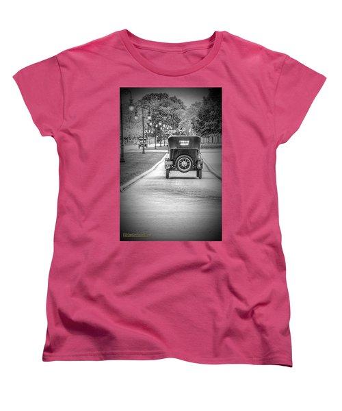 Model T Ford Down The Road Women's T-Shirt (Standard Cut) by LeeAnn McLaneGoetz McLaneGoetzStudioLLCcom