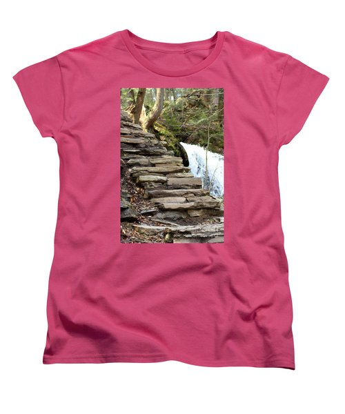Mohawk Falls Steps Women's T-Shirt (Standard Cut) by Patti Whitten