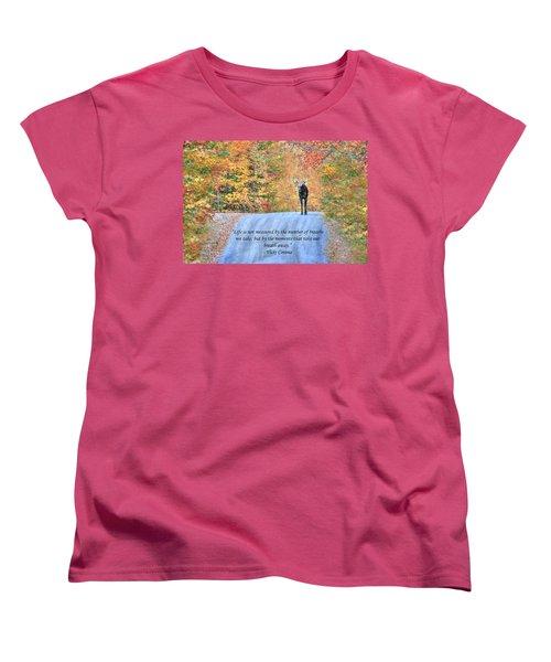 Moments That Take Our Breath Away Women's T-Shirt (Standard Cut) by Shelley Neff