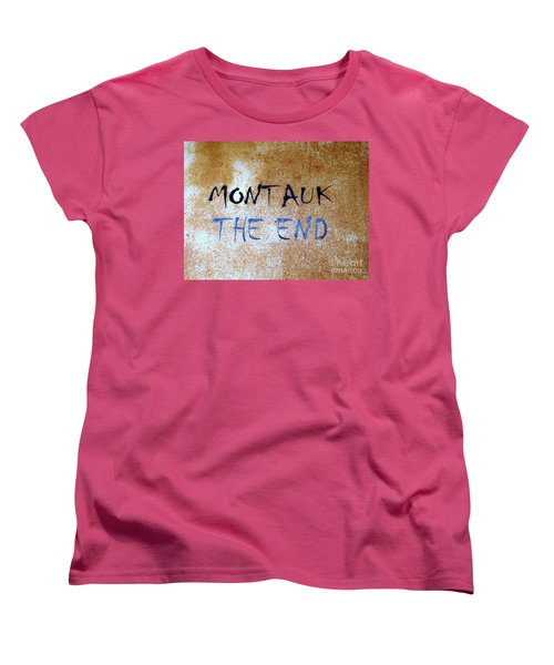 Women's T-Shirt (Standard Cut) featuring the photograph Montauk-the End by Ed Weidman