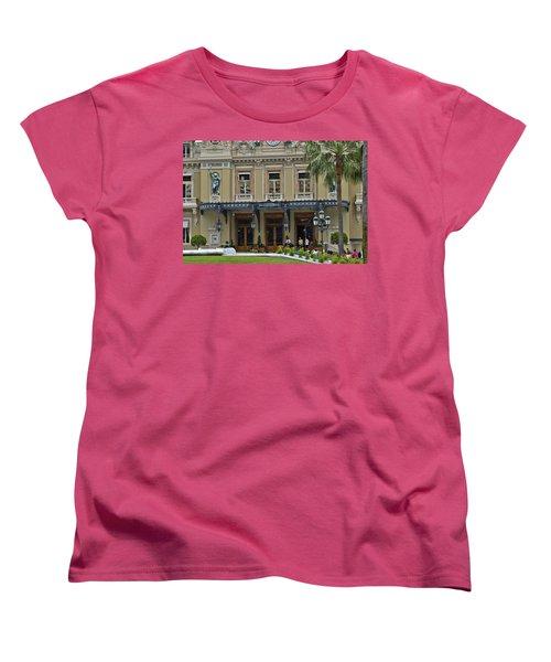 Women's T-Shirt (Standard Cut) featuring the photograph Monte Carlo Casino by Allen Sheffield