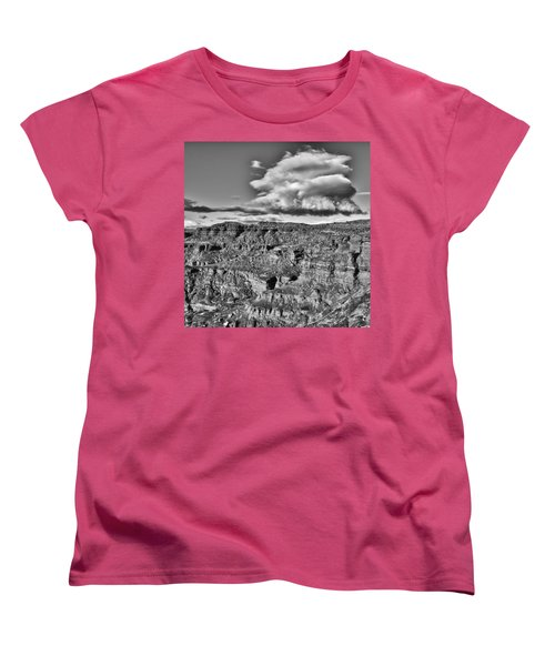 Women's T-Shirt (Standard Cut) featuring the photograph Monument Valley 5 Bw by Ron White