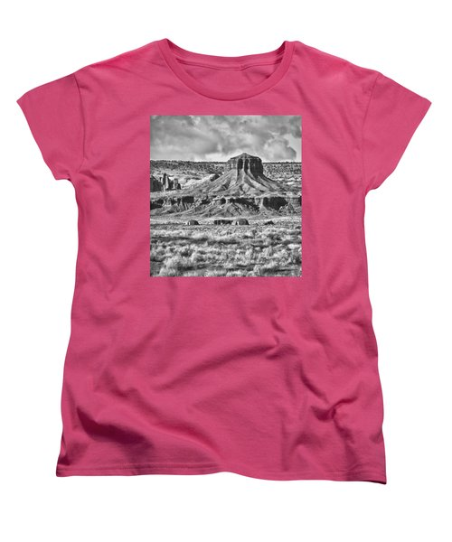 Women's T-Shirt (Standard Cut) featuring the photograph Monument Valley 7 Bw by Ron White
