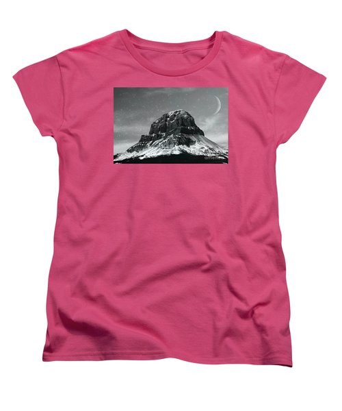 Moon Over Crowsnest Women's T-Shirt (Standard Cut) by Alyce Taylor