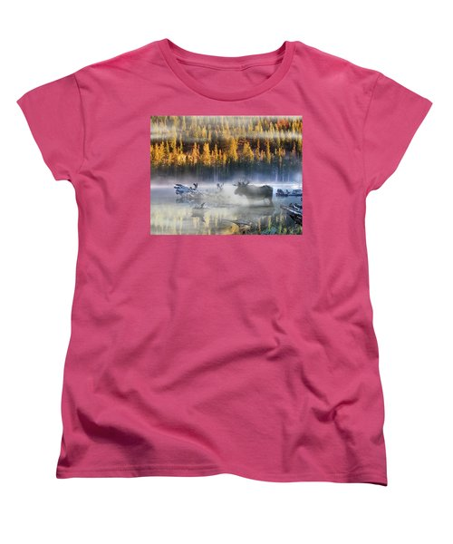Moose Lake Women's T-Shirt (Standard Cut) by Leland D Howard