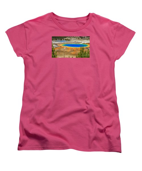 Grand Prismatic Geyser Yellowstone National Park Women's T-Shirt (Standard Fit)