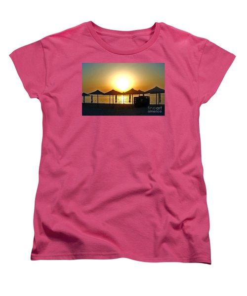Morning In Greece Women's T-Shirt (Standard Cut) by Nina Ficur Feenan