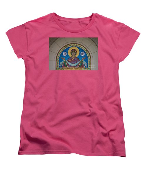 Mother Of God Mosaic Women's T-Shirt (Standard Cut) by William Norton
