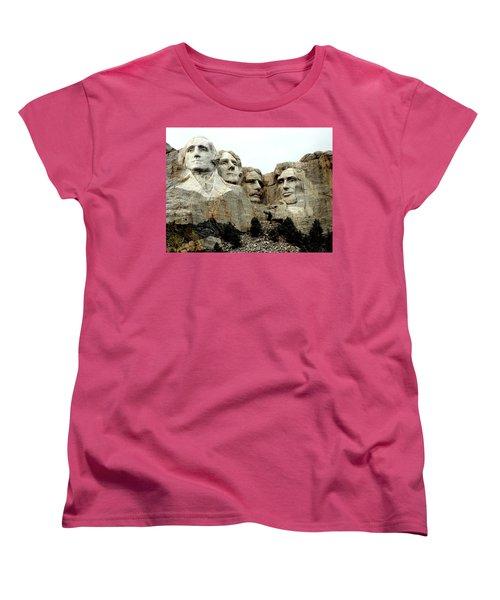 Mount Rushmore Presidents Women's T-Shirt (Standard Cut) by Clarice  Lakota