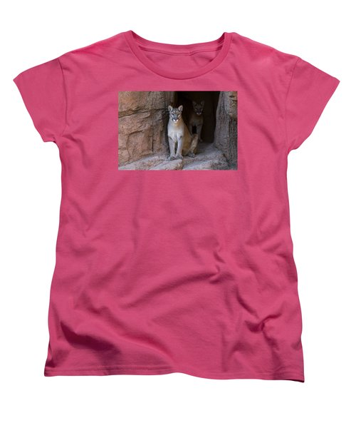 Women's T-Shirt (Standard Cut) featuring the photograph Mountain Lion 1 by Arterra Picture Library