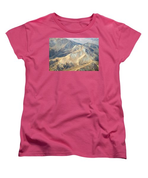 Women's T-Shirt (Standard Cut) featuring the photograph Mountain View 2 by Mark Greenberg