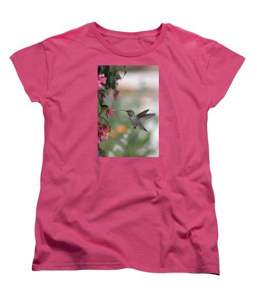 Mrs. Little Anna's Hummingbird Women's T-Shirt (Standard Cut) by Amy Gallagher