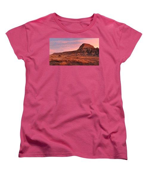 Women's T-Shirt (Standard Cut) featuring the photograph Mt Garfield Sunrise by Ronda Kimbrow