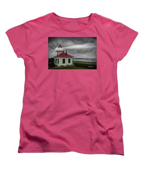 Mukilteo Lighthouse Women's T-Shirt (Standard Cut) by Charlie Duncan
