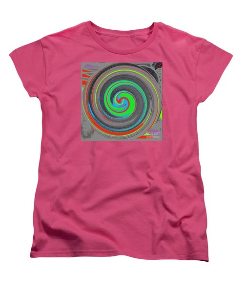 Women's T-Shirt (Standard Cut) featuring the digital art My Hurricane by Catherine Lott