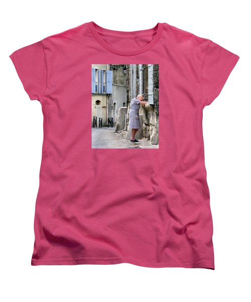 Women's T-Shirt (Standard Cut) featuring the photograph Naptime In Arles. France by Jennie Breeze