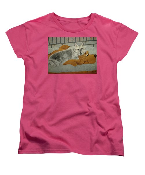 Naptime With My Buddy Women's T-Shirt (Standard Cut) by Norm Starks