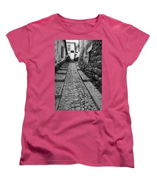 Narrow Street In Cusco Women's T-Shirt (Standard Cut) by Alexey Stiop