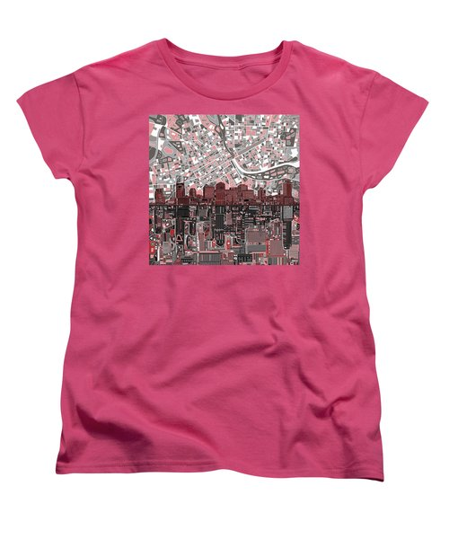 Nashville Skyline Abstract 3 Women's T-Shirt (Standard Cut) by Bekim Art
