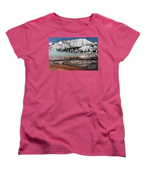 Women's T-Shirt (Standard Cut) featuring the photograph Nature's Mosaic I by Sharon Elliott