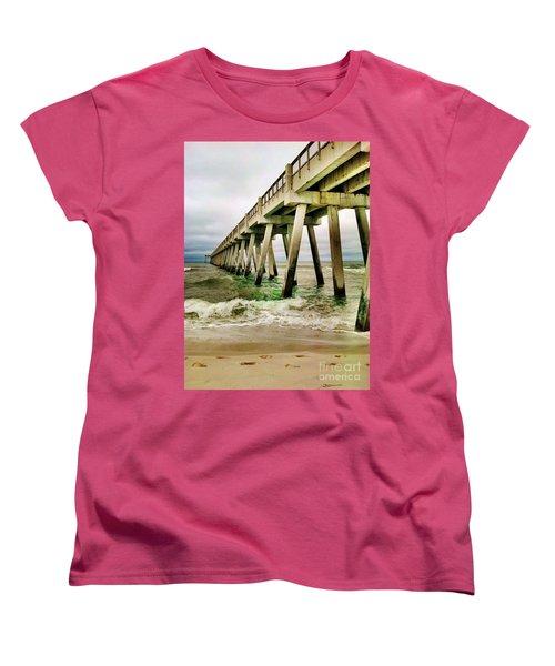 Navarre Pier Women's T-Shirt (Standard Cut) by Janice Spivey