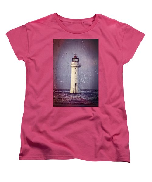 New Brighton Lighthouse Women's T-Shirt (Standard Cut) by Spikey Mouse Photography