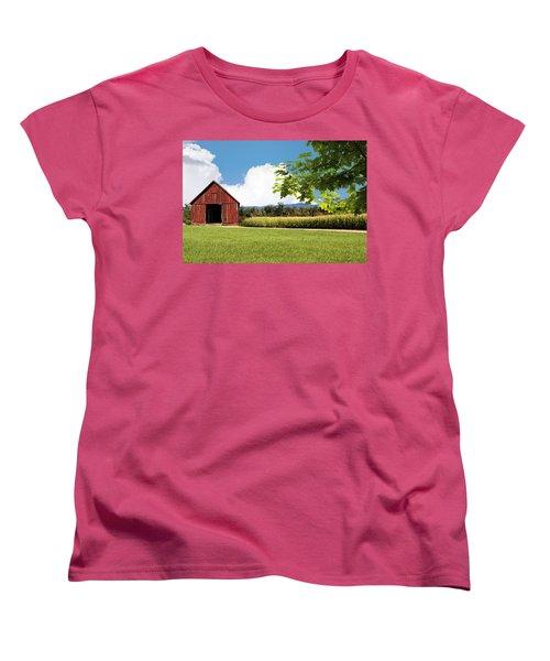 New Hampshire Barnyard Women's T-Shirt (Standard Cut) by Fred Larson