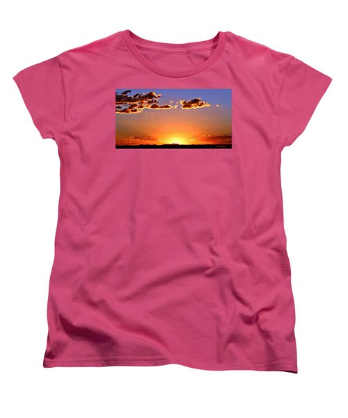 Women's T-Shirt (Standard Cut) featuring the photograph New Mexico Sunset Glow by Barbara Chichester