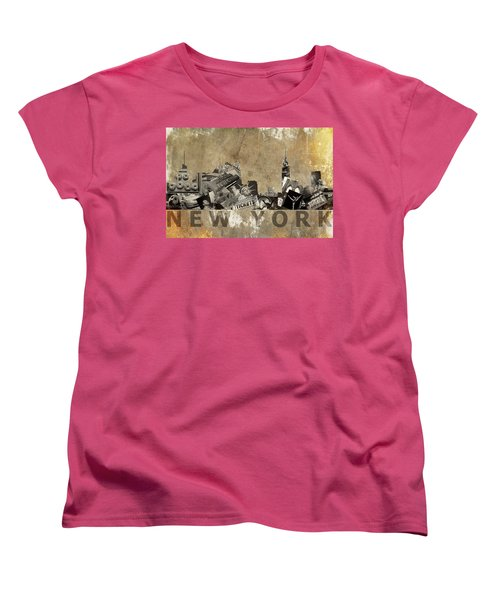 Women's T-Shirt (Standard Cut) featuring the photograph New York City Grunge by Suzanne Powers