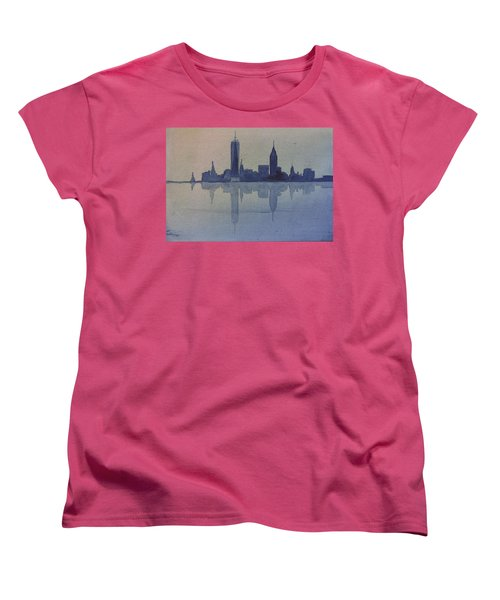 New York Skyline  Women's T-Shirt (Standard Cut) by Donna Walsh